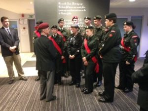 LGen Foster talks with cadets