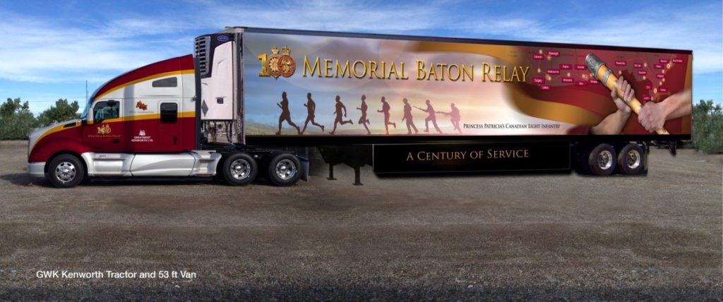 Memorial Baton Relay Support Truck
