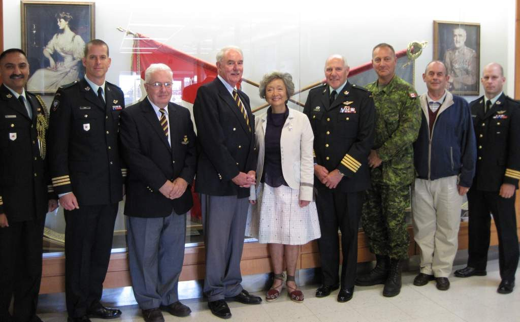 The founding trustees of the Foundation with the Foundation's Patron, the Right Honourable Adrienne Clarkson Colonel-in-Chief PPCLI and Lieutenant-General (Ret'd) Ray Crabbe, Vice-Patron and Colonel of the Regiment